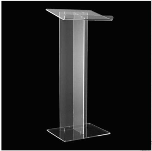 Floor Standing Lectern Modern Pulpit Designs Speech Lectern Clear Acrylic Church Podium(China (Mainland))