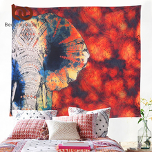 BeddingOutlet Red Tapestry Floral and Elephant Printed Hanging Wall Tapestries Hippie Bohemian Room Decor 130x150cm 150x200cm(China)