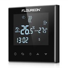 Floureon Large LCD Touch Screen Room Temperature Controller Thermostat Blue Backlight Programmable Anfreezing Heating Thermostat(China)