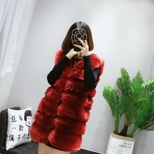 Fenghua 9 Colors Faux Fur Coat Winter Women 2018 Fashion Casual Sleeveless Faux Fox Fur Vest Winter Coat Women casaco feminino(China)