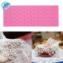 LINSBAYWU 1pc Lace Silicone Mold Mould Sugar Craft Fondant Mat Cake Decorating Baking Tools
