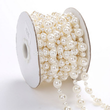 10 Yards 1 Rows Sewing Accessories 5mm+10mm Bright half round Pearls Mesh Trimming Cup Chain For Bags Design,fashion accessories