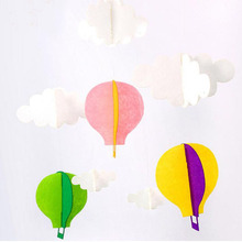 Clouds hot air balloon stereo DIY Felt ornaments party supplies kid room Decoration Party Garland Christmas decor ZA2956