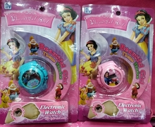 New 1 pcs Popular Cartoon princess the watch has flash light with music For Best Gift