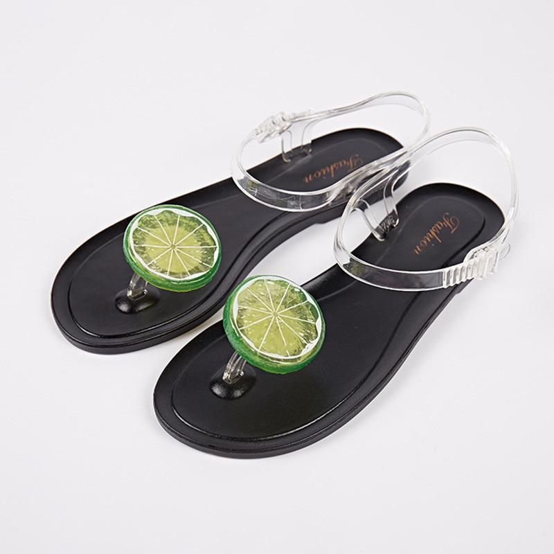 Concise Women Jelly Sandals Femme 2017 Summer Fruit Flat Beach Shoes Plastic Flip Flops Sandalias Mujer Verano Chaussures Femme<br><br>Aliexpress
