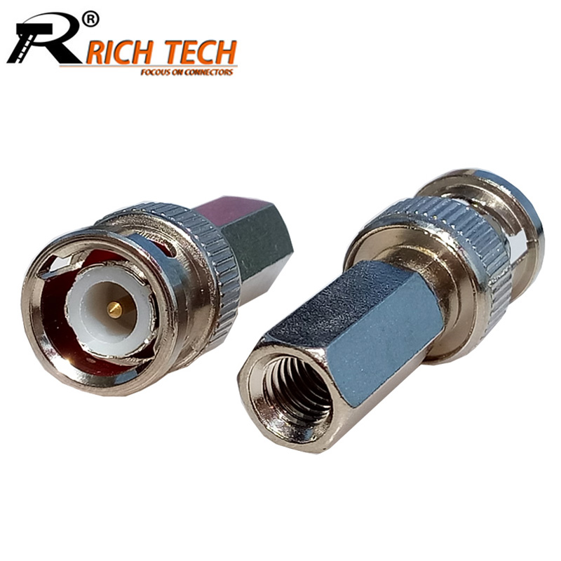 10pcs/lot CCTV BNC Connector Twist BNC Male Plug Coax Coaxial Connector RG58/RG59/RG6 Coax Adapter CCTV Security Camera
