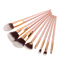 8pcs Professional Makeup Brushes Powder Foundation Eyeshadow Blush Contour Brush Set Super Soft Brush Head Hot Recommend