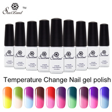 Saviland 1pcs Thermal Color Changing Nail Polish Long Lasting Soak Off Mood Change Nail Art Manicure Gel Nail Polish