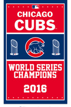 New Chicago Cubs 2016 World Series Champions flags-3x5 Banners-Free shipping