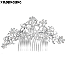 XIAOJINGLING 10Style Fashion Design Wedding Hair Accessories Pearl Crystal Elegant Bridal Hair Comb Wedding Hairpin Hair Jewelry(China)