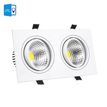 LED Ceiling Downlight 14W 18W 24W 30W LED COB Downlight AC110V 220V Square Recessed Dimmable LED Down light LED Spot light lamp(China)