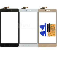 "5.0"" Black/White/Gold TP for Xiaomi Mi4S Mi 4S Touch Screen Digitizer Glass Panel No LCD Replacement Parts Free Shipping+Tools"
