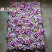 flower all over gulf Artificial silk rose flower wall for wedding background lawn/pillar road lead market decoration