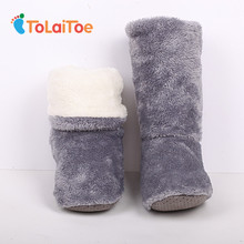 ToLaiToe Free Shipping Home Soft Plush Home Shoes Slippers Coral Fleece Indoor Floor Sock Indoor Slipper Winter Foot Warmer Bes(China)