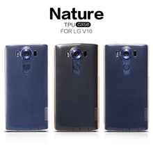 Cell phone case for lg v10 NILLKIN Nature TPU soft silicon water proof back cover free shipping