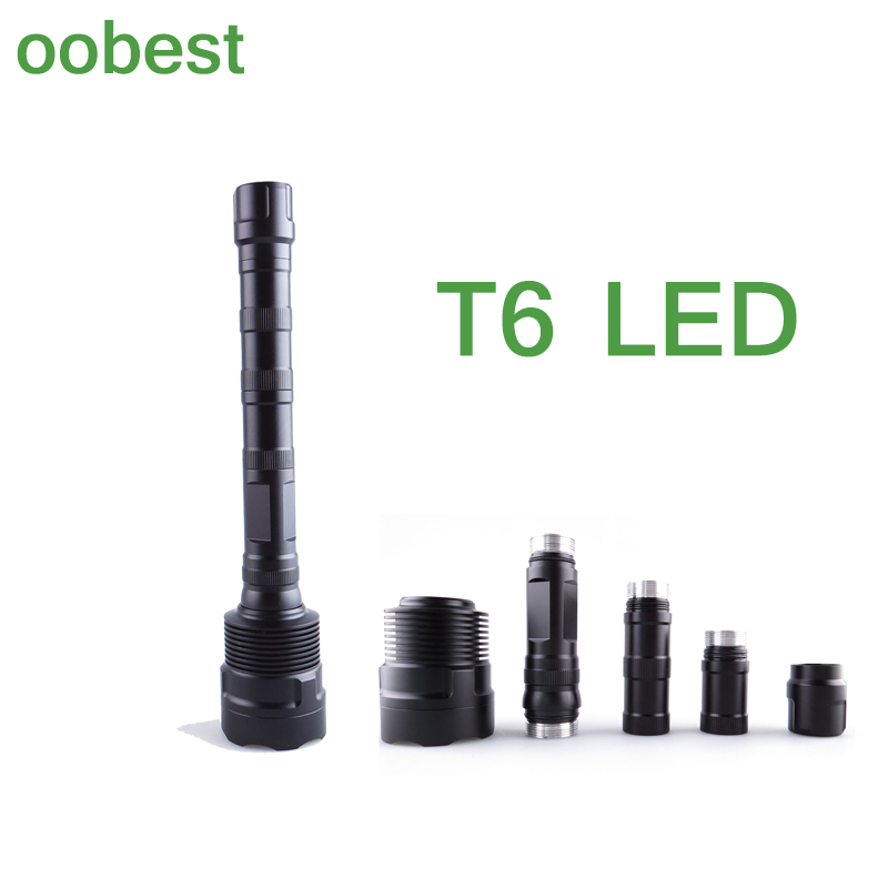 oobest 3 LED Flashlight Torch Lamps Torch Lamp 3800 Lumens Aluminum Alloy For Cyclin Camping Fishing Hiking Outdoor Portable<br>