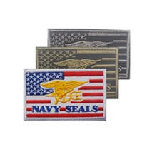 3D embroidery armband NAVY SEALS patches Flag of the United armband Dole seal NAVY SEALS armband embroidery chapter Patches(China)