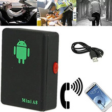Mini A8 GSM/GPRS/LBS Não Rastreador Gps Global Rastreador Rastreador Dispositivo de Rastreamento Com a SOS Botão Para Carros crianças Mais Velhas Localizador De Animais De Estimação