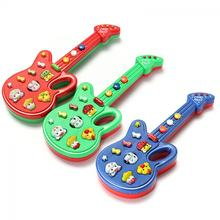 1Pc Boys Girls Lovely Electronic Guitar Toy Nursery Rhyme Music Toy For Child Infant Brain Development Toy