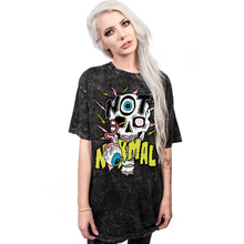 New Women's Streetwear Colorful Skull Digital Printing T-Shirt Fashional Quick-drying Short Sleeve Loose Milk Silk Tops(China)