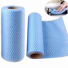 Roll of 49Pcs Multipurpose Scouring Pad Non-woven Fabric Nonstick Wiping Rags House Cleaning Cloth Kitchen Dish Dishcloth