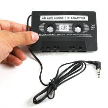 wholesale 100pcs/lot NEW AUDIO CAR CASSETTE TAPE ADAPTER CONVERTER 3.5 MM FOR IPHONE IPOD MP3 AUX CD #L0192460