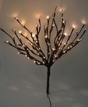 "LED Electric Branch Light 20"" 100LED Christmas branch light wedding table decoration  twig light in 3V Voltage with 3V Adaptor"