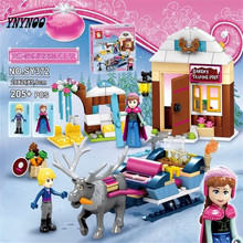 YNYNOO New 205pcs Anna & Kristoff's Sleigh Adventure 41066 Princess Series Building Block Girls Toy Compatible With Lepin(China)