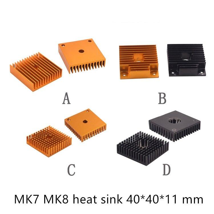 2Pcs Heat Sink 40 x 40 x 11mm FOR MakerBot 3D Printer Extruder MK7 MK8