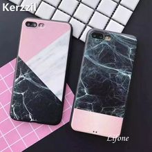 Kerzzil Geometric Silk Pattern Case For iPhone 7 6 6S Plus Soft Silicone Marble Lines Phone Cover Back For iPhone 6 6S 7 Capa