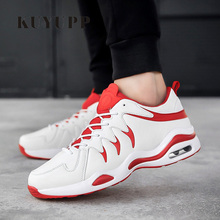 KUYUPP Men's Casual Shoes Quality Leather Shoes Sport Men Shoes Breathable Trainers zapatillas deportivas hombre Size 39-44 ED34