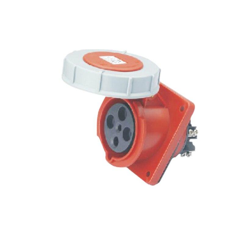63A 4Pin 380-415V industrial waterproof Hidden oblique socket Waterproof grade IP67 SF-434<br><br>Aliexpress