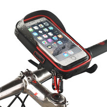 Phone Holder Universal Bike Motorcycle Mobile Support Stand Waterproof Bag for iphone X 8 S8 S9 GPS Bicycle Holder Handlebar Bag(China)