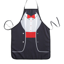 Novelty Cooking Kitchen Red Bowknot Print Sexy Apron Baking Present Pinafore Chef Funny cute kitchen aprons