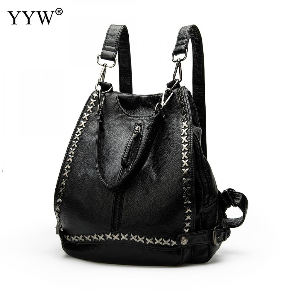 Designer Backpacks Women High quality Rivet School Bags For Teenage PU Leather Shoulder bags<br>