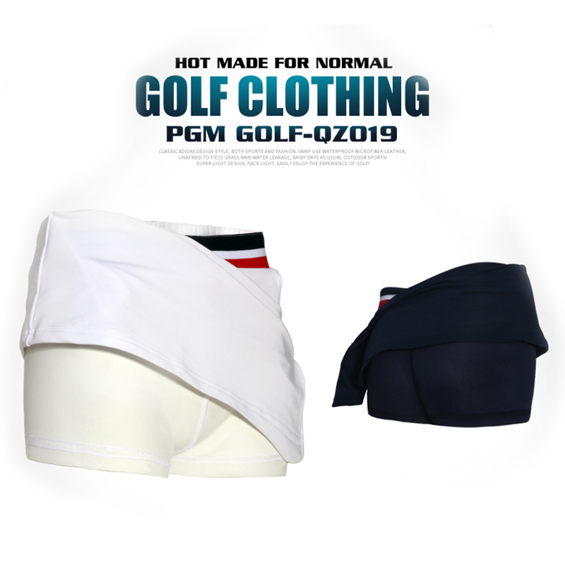PGM Golf Clothes Female Short Divided Summer Woman Pleated Tennis Mini Skirt Lining (18)