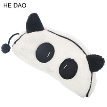 Cute Kawaii 3d Plush Panda Pencil Case Large Capacity School Supplies Noverty Item For Kids Multifunctional Free Shipping(China)