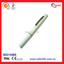 promotion gift medical light 300 pieces/lot led flashlight ballpoint clip pen for promotional(China)