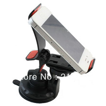 Best Quality Shockproof 360degree Rotating Car Clip Suction Mount Universal Holder for GPS Phone MP4 PDA Clamp Length Max 12.5cm(China)