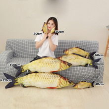1pc Fashion Simulation Carp Stuffed Fish Plush Toys Pillow Kids Creative Sofa Bed Pillow Appease Baby Kids Toy Christmas Gift(China)