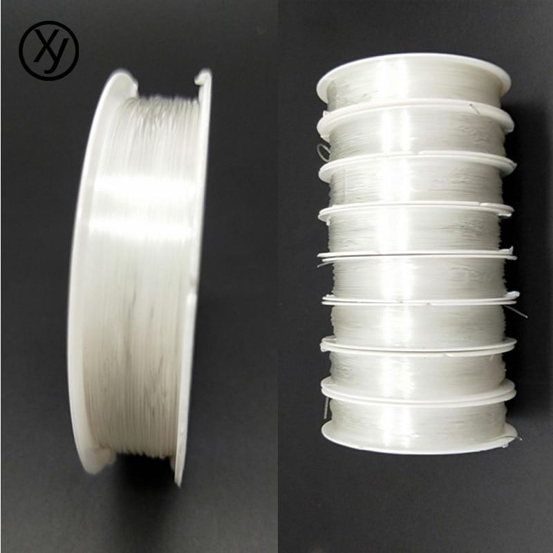 1Roll 0.5-1.0MM Clear Elastic Beading Stringing Thread Cord Bracelet Making