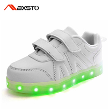 Multi-Color USB Charging LED Children Shoes With Light Up Kids Boys Girls Luminous Sneakers Flashing Glowing Shoes Sport Casual