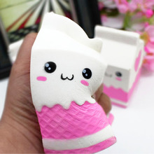 Besegad Kawaii Cute Soft Squishy Charms Milk Bag Toy Slow Rising for Children Adults Relieves Stress Anxiety Cabinet Decor