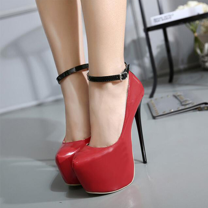 New Women Pumps 2017 New  Sexy 16CM High Heels  Shoes  Fashion Weeks Thin Heel Women Shoes size 35-40<br><br>Aliexpress