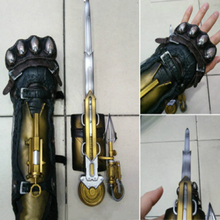 Assassins Creed Syndicate Gauntlet Hidden Blade Avec Lame Secrete Weapons Action Figures PVC brinquedosno box(China)