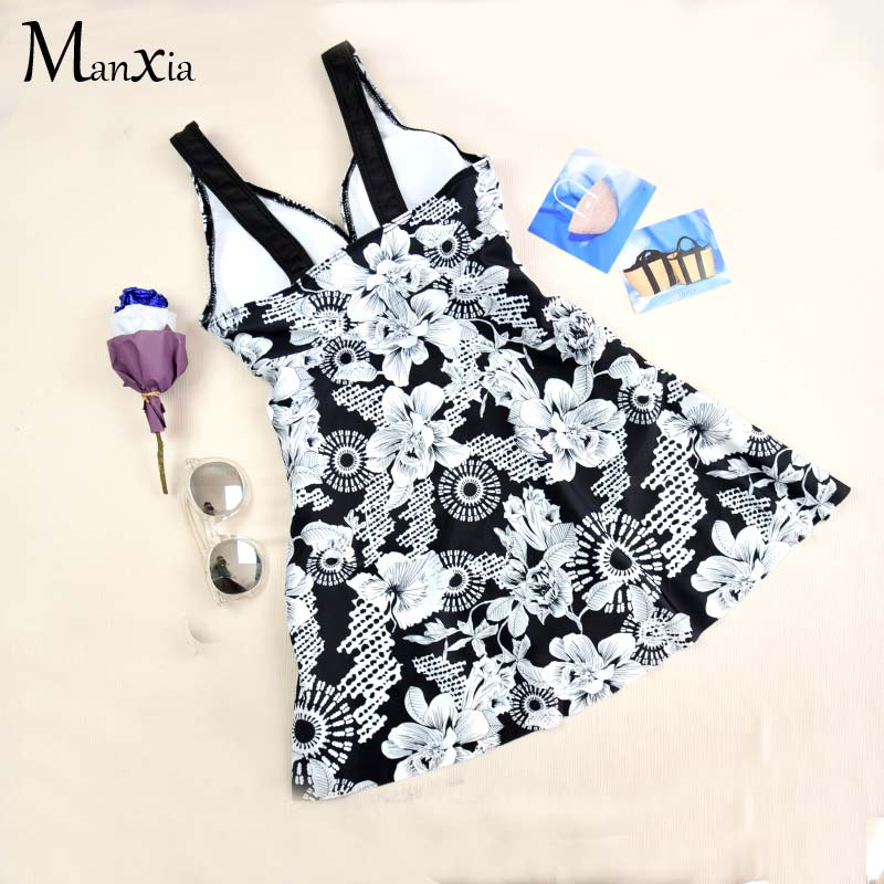 MANXIA Print Floral Solid Monokini One Piece Swimsuit Women Push Up Halter Top Swimwear Female Backless Bodysuit 2018 New Bating<br>