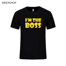 I'm The Boss Funny Mens T Shirt Husband Wife Rules Novelty Gift Idea Birthday Summer Fahsion Short Sleeve Cotton Tops Tee
