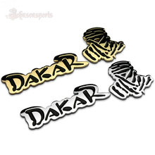 1Set Dakar World Rally Racing Vintage Chrome Metal Emblem Badge Cool 3D Stickers for JEEP SUV Car Styling