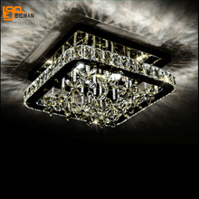 new design square ceiling lamp led lamp crystal ceiling lights for living room hallway  luminaire plafonnier