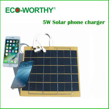 Eco-worthy best portable solar mobile universal cell phone charger 5v for iphone note with usb cable(China)